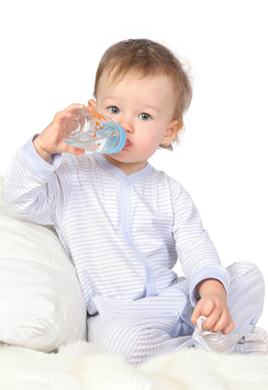 Smallest picture of baby drinking water